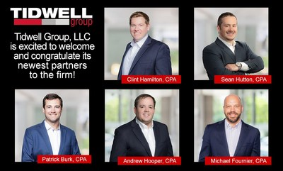 New partners announced at Tidwell Group for 2021